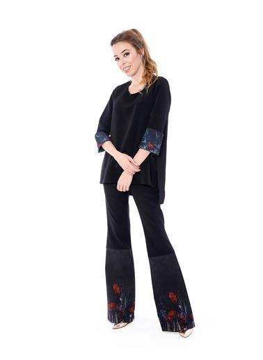 Soie Design Bluz Siyah